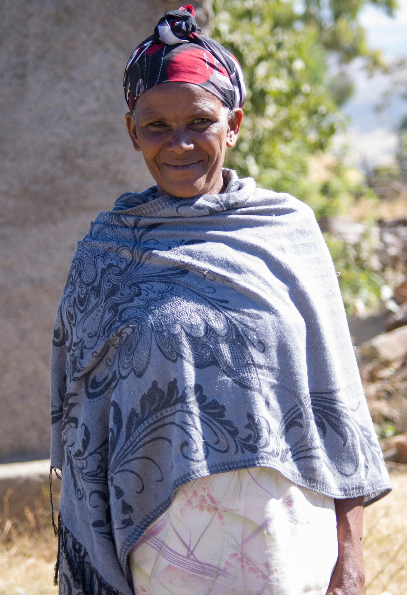 Widowed mum of four Shifine on her farm in Gerda Busa village, Ethiopia